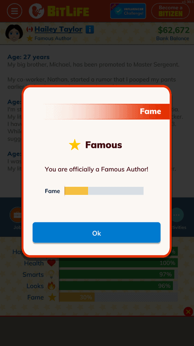famous writer bitlife