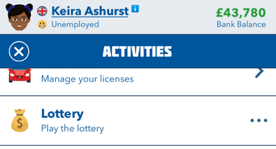 bitlife lottery activity