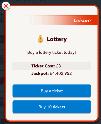 buy lottery bitlife