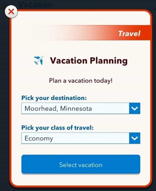 vacation bitlife